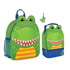Stephen Joseph Boys Mini Dinosaur Backpack, Lunch Pal and Zipper Pull - Toddler Bags >>> You can get additional details at the image link.