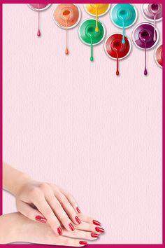 Creative Nail Polish poster background