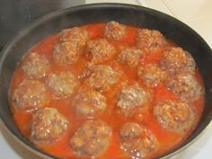 Porcupine Meatballs - made with rice not breadcrumbs