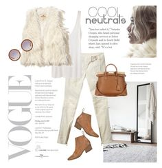 """""""Cool Neutrals"""" by barngirl ❤ liked on Polyvore featuring Balmain, The Row, Hollister Co., Marsèll and Maison Margiela"""