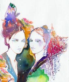 Illustration de mode à l'aquarelle. par silverridgestudio sur Etsy