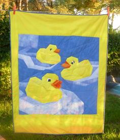 Quilting Buttercup: Rubber Duckies by Paper Panache Baby Quilt