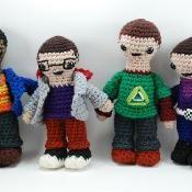 Combined Big Bang Characters Amigurumi - via @Craftsy