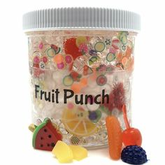 Fruit Punch Fishbowl Slime Stress Relief Toys and Games for Adult and Children - Drawing Designs Fruit Slime, Slimy Slime, Food Slime, Fish Bowl Slime, Edible Slime, Slime Names, Slime For Sale, Slime Containers, Pretty Slime