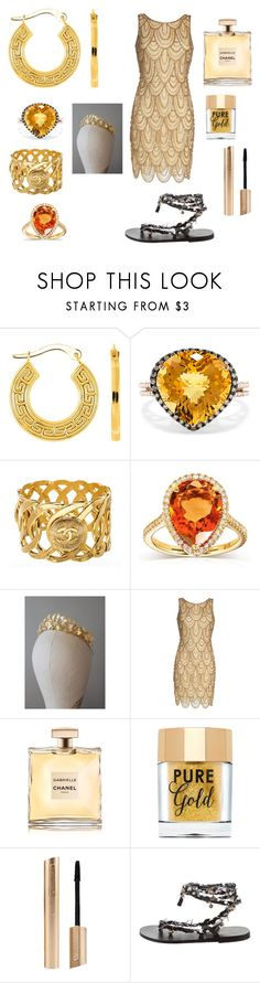 """Greek"" by giulia-ostara-re ❤ liked on Polyvore featuring Effy Jewelry, Chanel, Annello, Pisarro Nights, Too Faced Cosmetics and Ancient Greek Sandals"