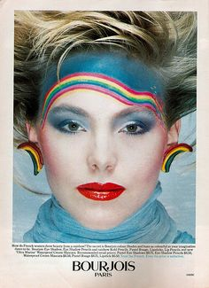 Bourjois cometics ad from the 80s: