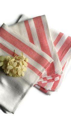 Set of 3 Vintage Dish Towels...Cottage Dish Towels...Farmhouse Dish Towels...Set of 3...