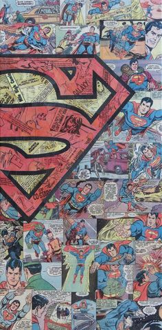 I like the idea of a superhero collage Mike-Alcantara-superheroes-collages-13