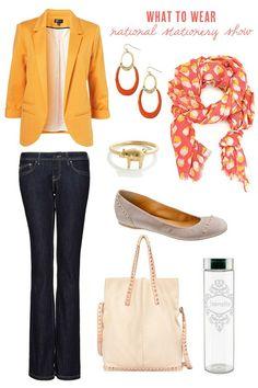 Yellow blazer and scarf