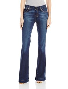 7 For All Mankind Women's Dojo, Santiago Canyon, 25 Stylish Jeans, Casual Jeans, Jeans Style, Casual Outfits, Thing 1, Curvy Jeans, Wide Leg Jeans, Women's Jeans, Hudson Jeans