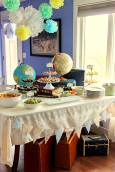 I want to have a vintage travel themed going away party for my European trip!!