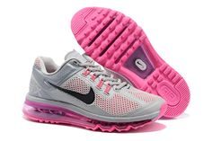 Cheap Womens Air Max 2013 Pink Grey Black Shoes On Sale - $68.98 airmax-onsales.com Cheap On Sale