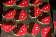 Mickey Mouse Valentine Cookies