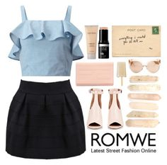 """""""If you let me treasure you - romwe contest"""" by grapefashion ❤ liked on Polyvore featuring Givenchy, Miss Selfridge, Fendi, Laura Mercier and Linda Farrow"""