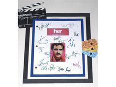 Her Movie Script Signed Screenplay Autographed: Spike Jonze, Scarlett Johansson…