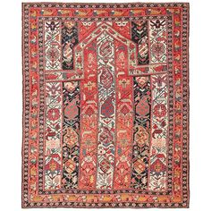 Antique Caucasian Marasali Shirvan Prayer Rug   From a unique collection of antique and modern caucasian rugs at https://www.1stdibs.com/furniture/rugs-carpets/caucasian-rugs/