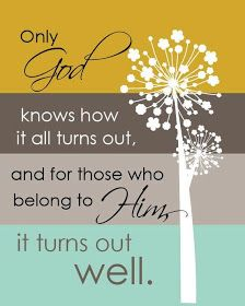 Only God knows....
