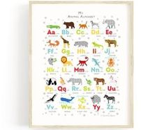 Navy Alphabet Wall Art Set Animal Alphabet Numbers Prints | Etsy Alphabet Wall Art, Alphabet Print, Animal Alphabet, Alphabet And Numbers, Nursery Prints, Nursery Wall Art, Nursery Ideas, Nursery Decor, Room Decor