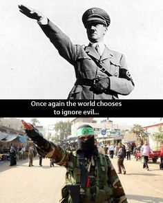 Different enemy, same ideology. #ISIS Hitler wanted to create a Master Race. ISIS and Terrorist groups want to creat a Master Faith. (Once in power human abuses,oppression of women and gays begin.)