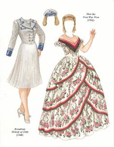 Debbie Reynolds paper doll | Debbie Reynolds, Broadway Melody of 1940 (1940), How The West Was Won ...