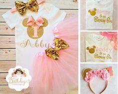 3 a/ños algod/ón Camiseta de Manga Corta para ni/ña dise/ño de Minnie Mouse Disney Tercer cumplea/ños beb/é Color Blanco Brillante o Rosa ni/ña
