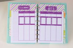 2015 Daily Planner Printable Inserts Half by IHeartPlanners