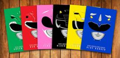 Ranger Helmets - Mighty Morphin Power Rangers (Six) Posters  Size 13 x 19 inches