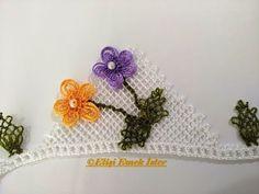 Menekşe Çiçeği Havlu kenarı Modeli (İĞNE OYASI) Anlatımlı Yapılışı - YouTube