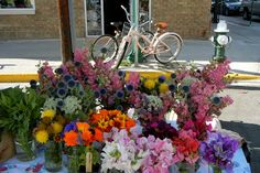 Pink bike...pink flowers