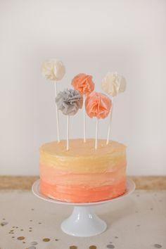 Pompom cake toppers