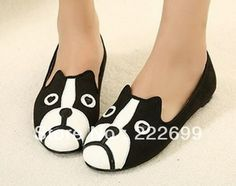 Aliexpress.com : Buy FREE SHIPPING!!!2013 New Arrival Fashion Black Dog  Cat Flats Pumps Women Flats from Reliable Fashion Women Flats suppliers on Guccn $21.99