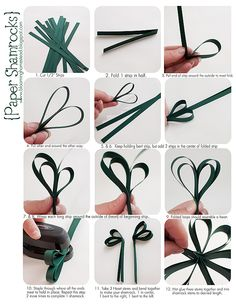 Easy Shamrock Banner tutorial-Blooming Homestead: St. Patrick's Day Round-up