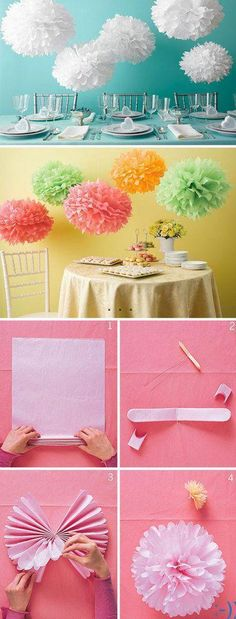 DIY-Tissue-paper-ball-decorations