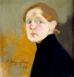 Helene Schjerfbeck, Self-Portrait, 1912, Oil on canvas, 43,5 x 42 cm, Ateneum…