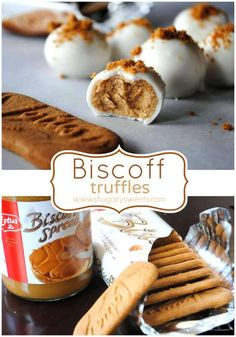 Easy, delicious, melt in your mouth, Biscoff Truffles! I love the bis off truffles! Biscoff Cookie Butter, Butter Cookies Recipe, Biscoff Cookies, Candy Recipes, Sweet Recipes, Dessert Recipes, Dessert Ideas, Biscoff Recipes, Baking Recipes
