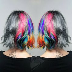 """""""「Rainbow of Chaos」 ⠀⠀⠀ Check out my facebook page for more photo's! Link in bio! You can also watch how I done this on periscope! ⠀⠀⠀⠀ ⠀⠀⠀ #hair…"""""""