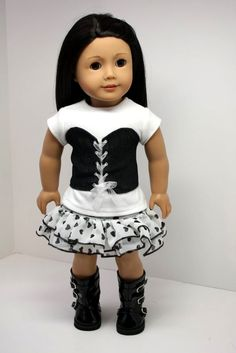 American Girl Doll Clothes Denim Vest Top made by sewurbandesigns, $24.00