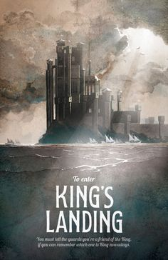 Game of Thrones Poster Kings Landing Travel by TheGreenDragonInn, $16.00