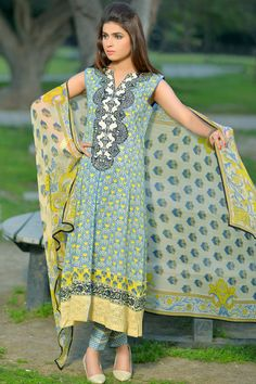 Product code: SUT-0621-LD 3-Pcs Suit (SWISS LAWN) SHIRT PRINTED (NECK EMBROIDERED PATCH), PRINTED CHIFFON DUPATTA , PRINTED COTTON TROUSER  Shop Online www.nimsay.pk