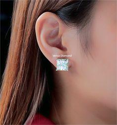 Princess Diamond Earrings 10.50+10.08 carat K color VVS VS Princess Cut Diamond Earrings, Princess Cut Diamonds, Diamond Cuts, Color, Jewelry, Jewlery, Jewerly, Colour, Schmuck