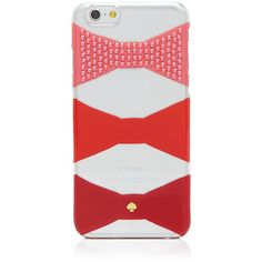 kate spade new york iPhone 6 Case - Embellished Bow Tie ($45) ❤ liked on Polyvore featuring accessories, tech accessories, phone, phone cases and kate spade