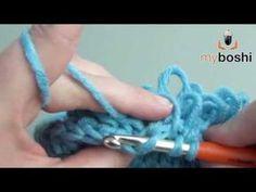 DIY Häkeln Muster - Schlingmaschen Schlaufenmaschen / Crochet Pattern - Loop Stitch - YouTube