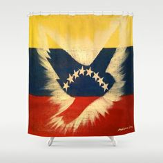ThePeaceBomb - Venezuela Shower Curtain by ThePeaceBombers - $68.00Part of the world know PeaceBomb Team - Join it now! Acrylics and ink on recycle quality paper Handwritten text - Japanese book paper Created by the Founder of The PeaceBomb Team. Join it now!  #decor #home #shower #bathroom #curtains #homes #peace #art #thepeacebomb #venezuela