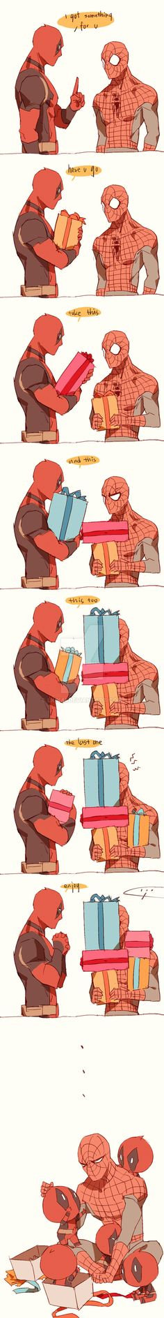 Spiderman x Deadpool Marvel 3, Marvel Funny, Marvel Memes, Funny Comics, Marvel Universe, Spideypool, Superfamily, Deadpool X Spiderman, Marvel Avengers