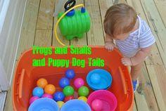 Tub of balls and bowls-water play