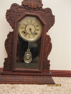 vintage  items   Collectibles-General (Antiques): antique clock and mirror, ansonia ...