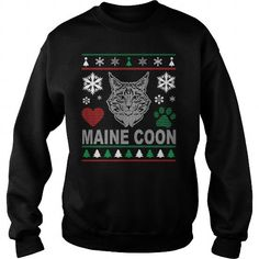 Ugly Maine Coon Christmas Design Crew Sweatshirts T-Shirts, Hoodies ==►► Click Order This Shirt NOW!