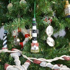 Bodie Island Lighthouse Christmas Tree Ornament