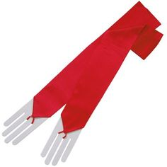 ZaZa Bridal Stretch Satin Fingerless Gloves Opera Length 16BL-Red