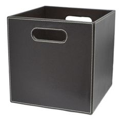 Shop Allen + Roth Large Brown Faux Leather Storage Bin At Loweu0027s Canada.  Find Our Selection Of Storage Bins U0026 Baskets At The Lowest Price Guaranteed  With ...